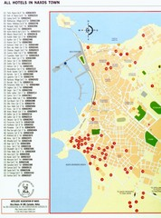 Naxos Tourist Map