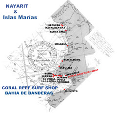 Nayarit Surf Map