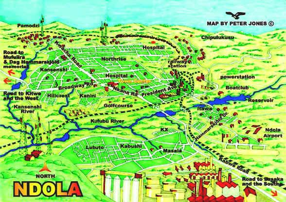 Ndola Map Ndola Mappery Classic Style Map Of Ndola Urban Zambia - Where is zambia