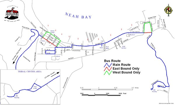 Neah Bay Bus Route Map