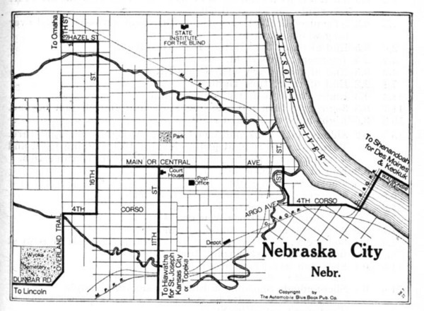 Nebraska City 1920 Map