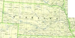Nebraska Counties and Rivers Map