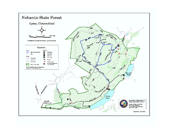 Nehantic State Forest map
