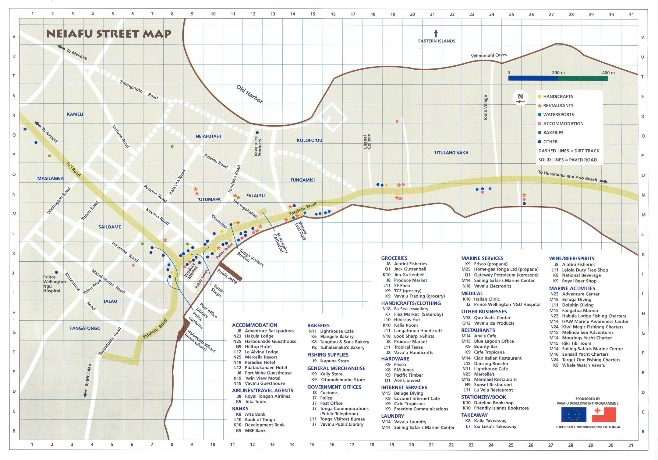 Neiafu Street Map Neiafu Tonga mappery