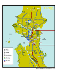 Neighborhoods of Seattle, Washington Map