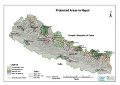 Nepal Protected Areas Map