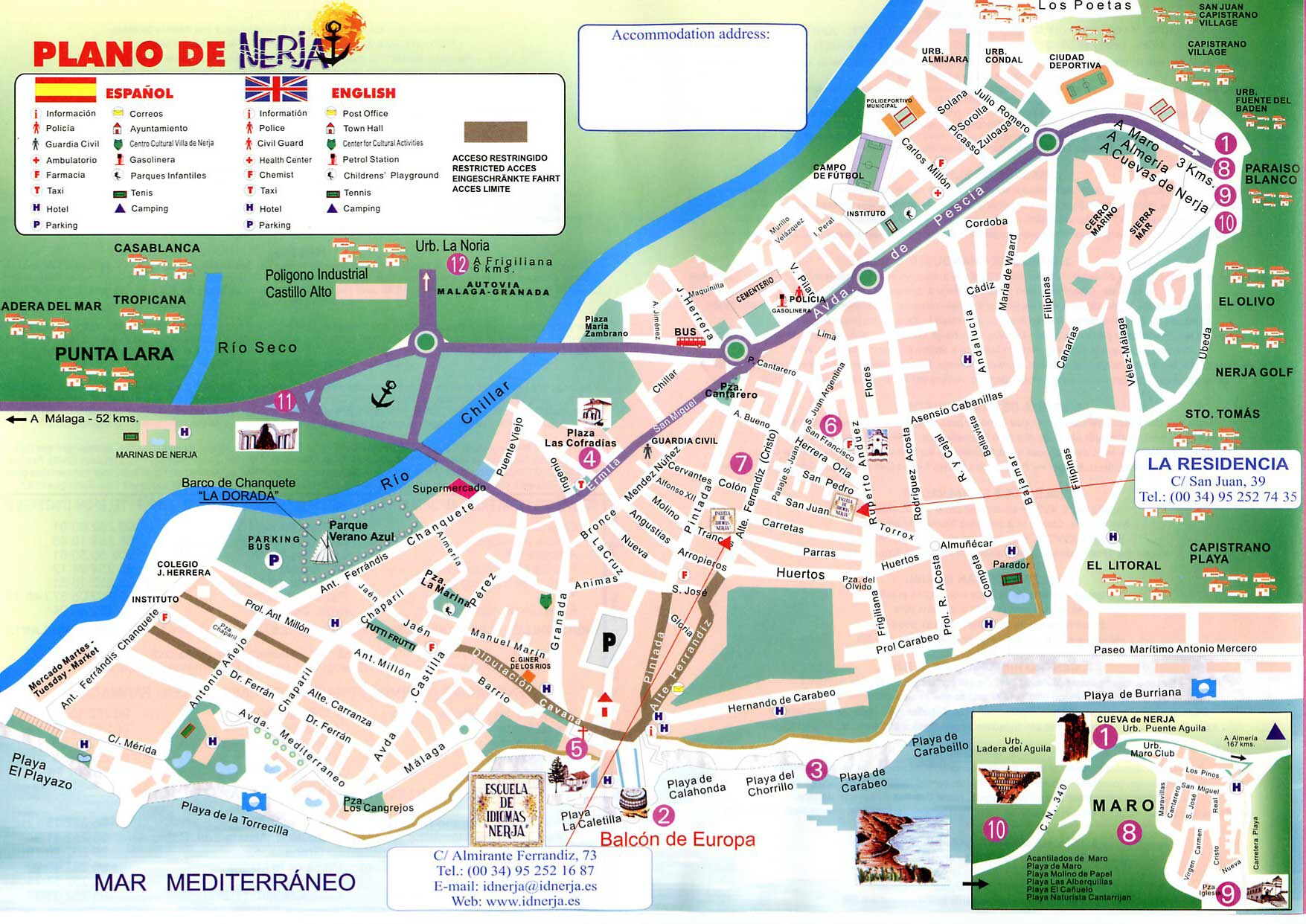 Nerja Tourist Map   Nerja Spain • mappery