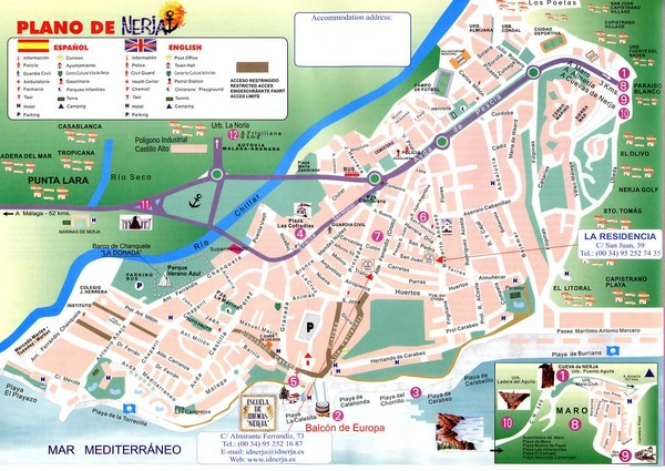 Nerja Tourist Map Nerja Spain mappery – Tourist Map Of Cordoba Spain
