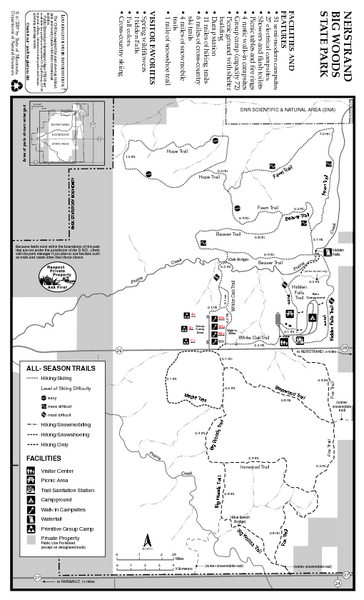 Nerstrand-Big Woods State Park Map