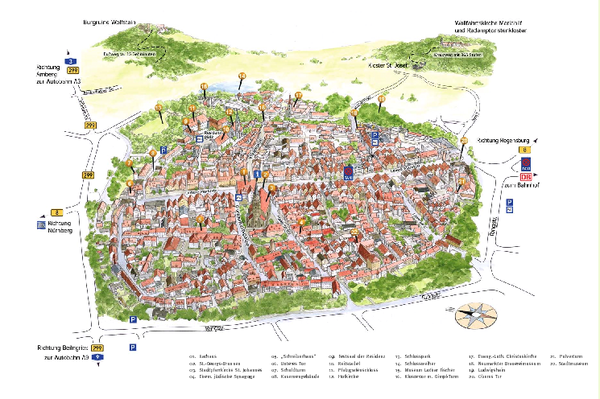 Neumarkt in der Oberpfalz Map Neumarkt in der Oberpfalz Germany – Nuremberg Tourist Map