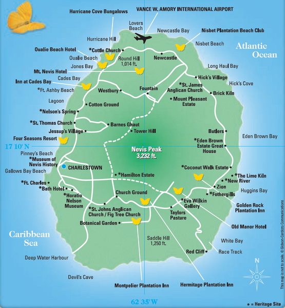 Nevis tourist map nevis island mappery fullsize nevis tourist map sciox Images
