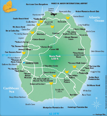 Saint Kitts And Nevis Maps Mappery - Saint kitts and nevis map