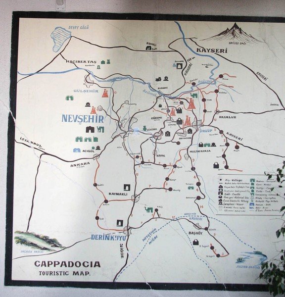 Nevsehir Tourist Map