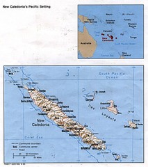 New Caledonia Islands Tourist Map