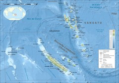 New Caledonia bathymetric Map