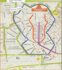 New Delhi Bus Tours Map