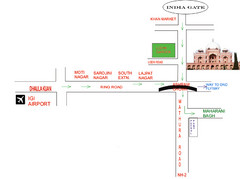 New Delhi Tourist Map