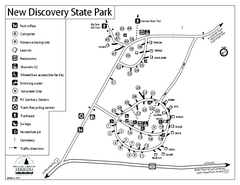 New Discovery State Park Campground Map