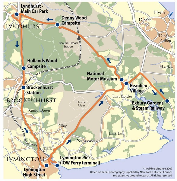 New Forest Bus Tour Map