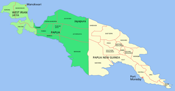 New Guinea Island Map