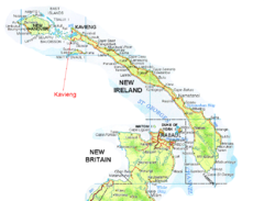New Ireland and Kavieng Map