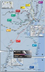 New Jersey Meadowlands Transportation Guide Map