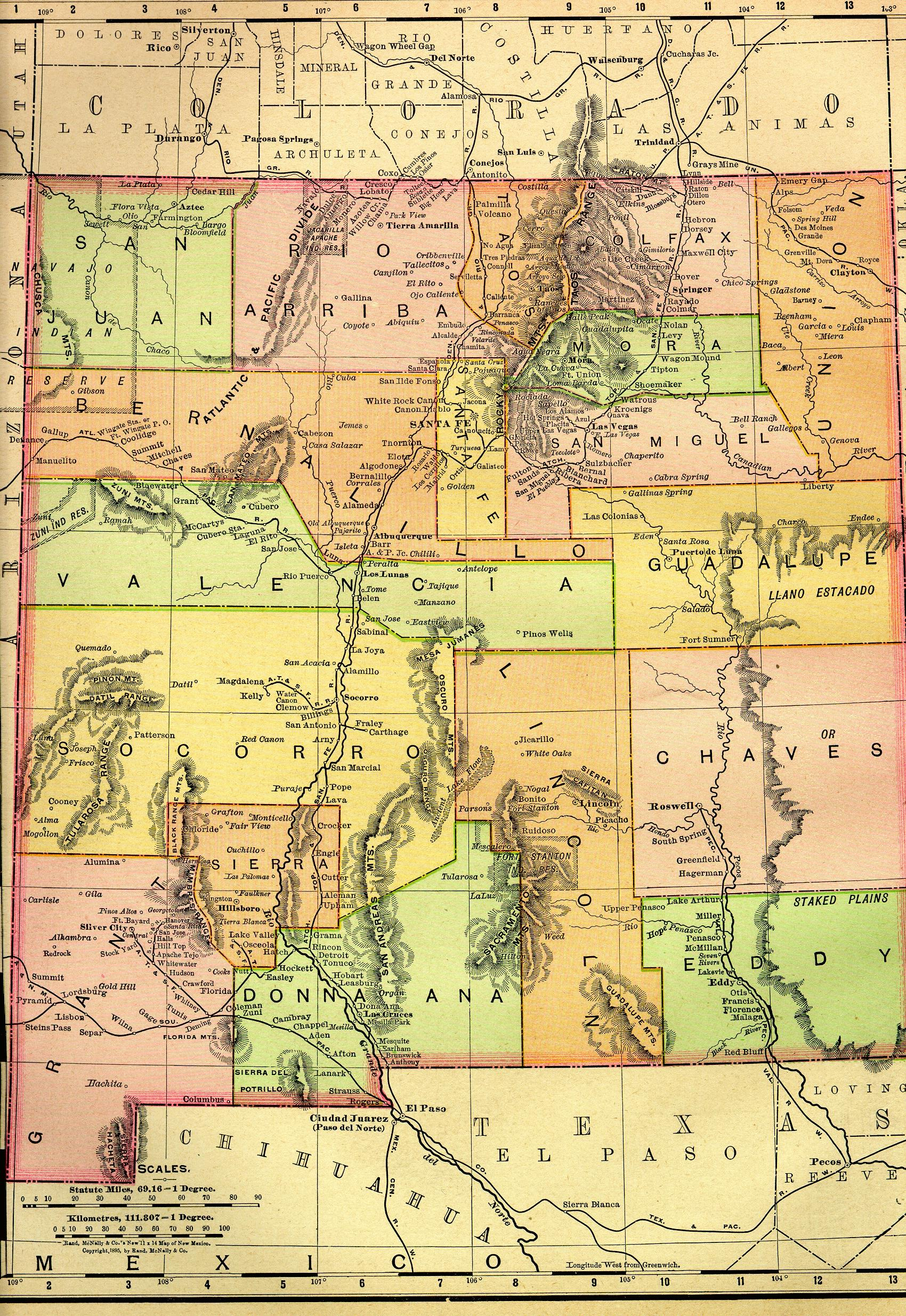 Map of New Mexico New Mexico Maps