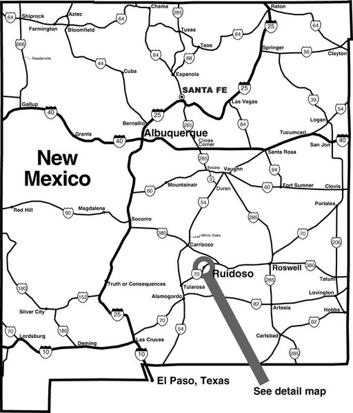 New Mexico Tourist Map