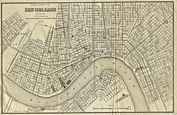 New Orleans 1873 Map