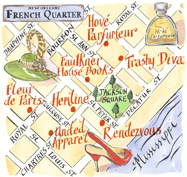 New Orleans French Quarter Map new orleans mappery – Tourist Map New Orleans