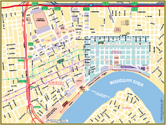New Orleans French Quarter Street Map
