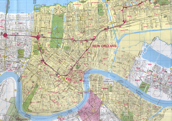 New Orleans French Quarter Map New Orleans Louisiana mappery – New Orleans French Quarter Tourist Map