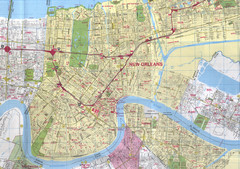 New Orleans, Louisiana City Map