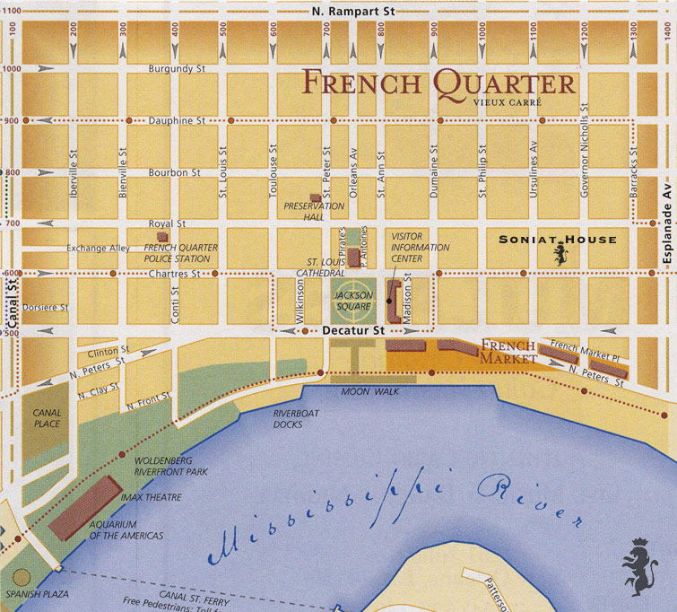 New Orleans Tourist Map New Orleans mappery – Tourist Map New Orleans