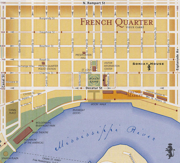 graphic about Printable Maps of New Orleans identified as Fresh new Orleans Vacationer Map - Refreshing Orleans mappery