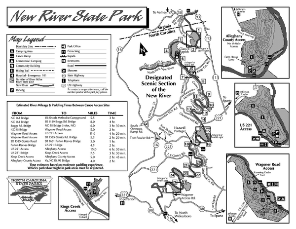 New River Virginia Map New River State Park Map