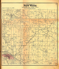 New Wine Township Iowa Atlas Map