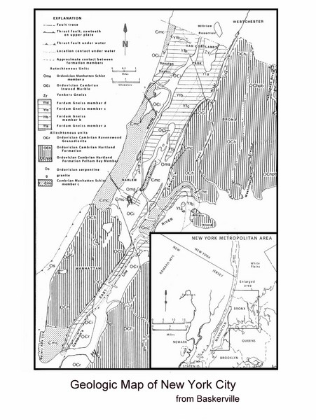 New York City Geological Map