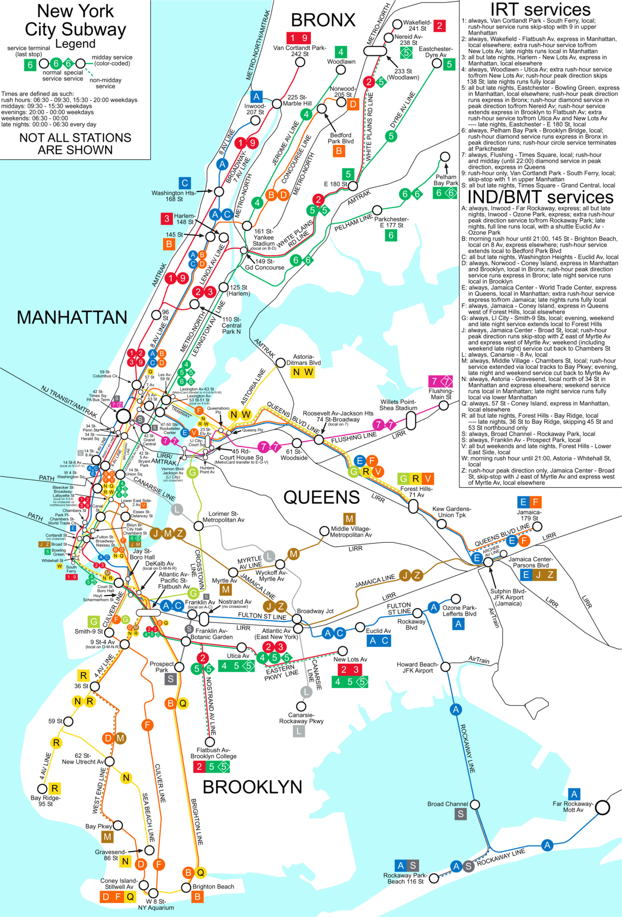 New York City Subway Map New York City NY mappery – Map New York City Subway