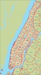 New York City zipcode map