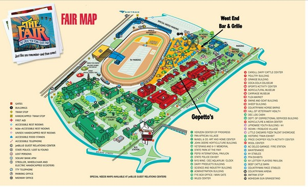 New York State Fairgrounds Map
