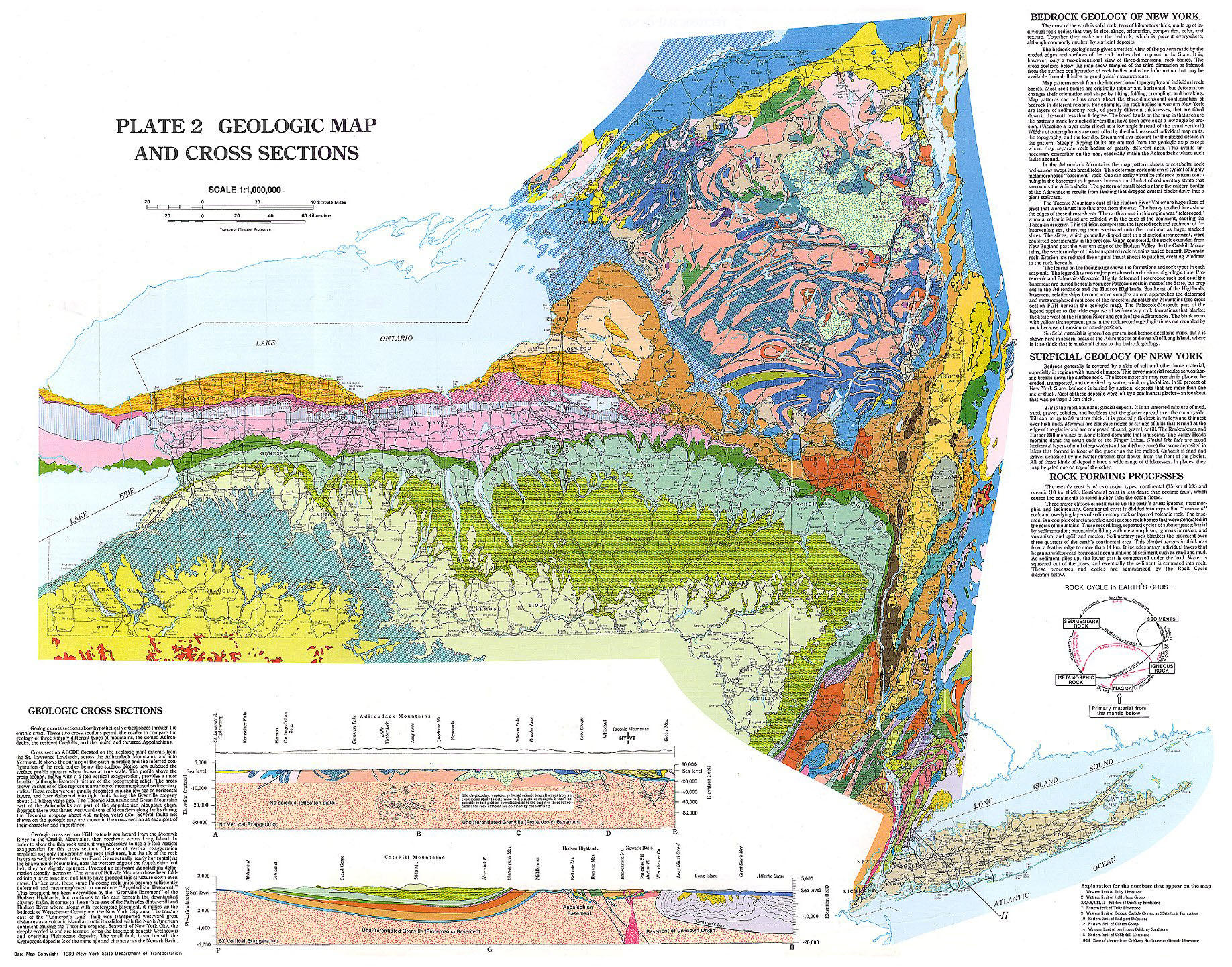 New york state geologic map see map details from ublib.buffalo.edu