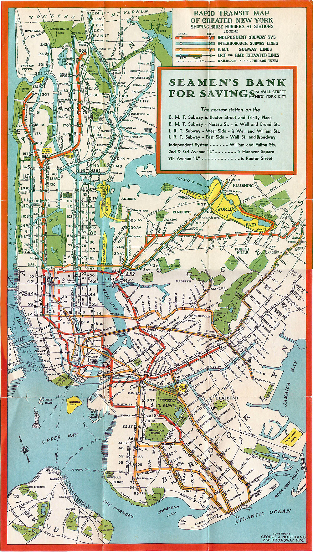 new york subway map 1930 nyc mappery