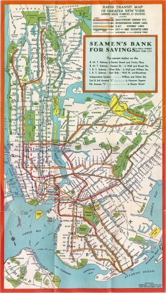 fullsize new york subway map 1930