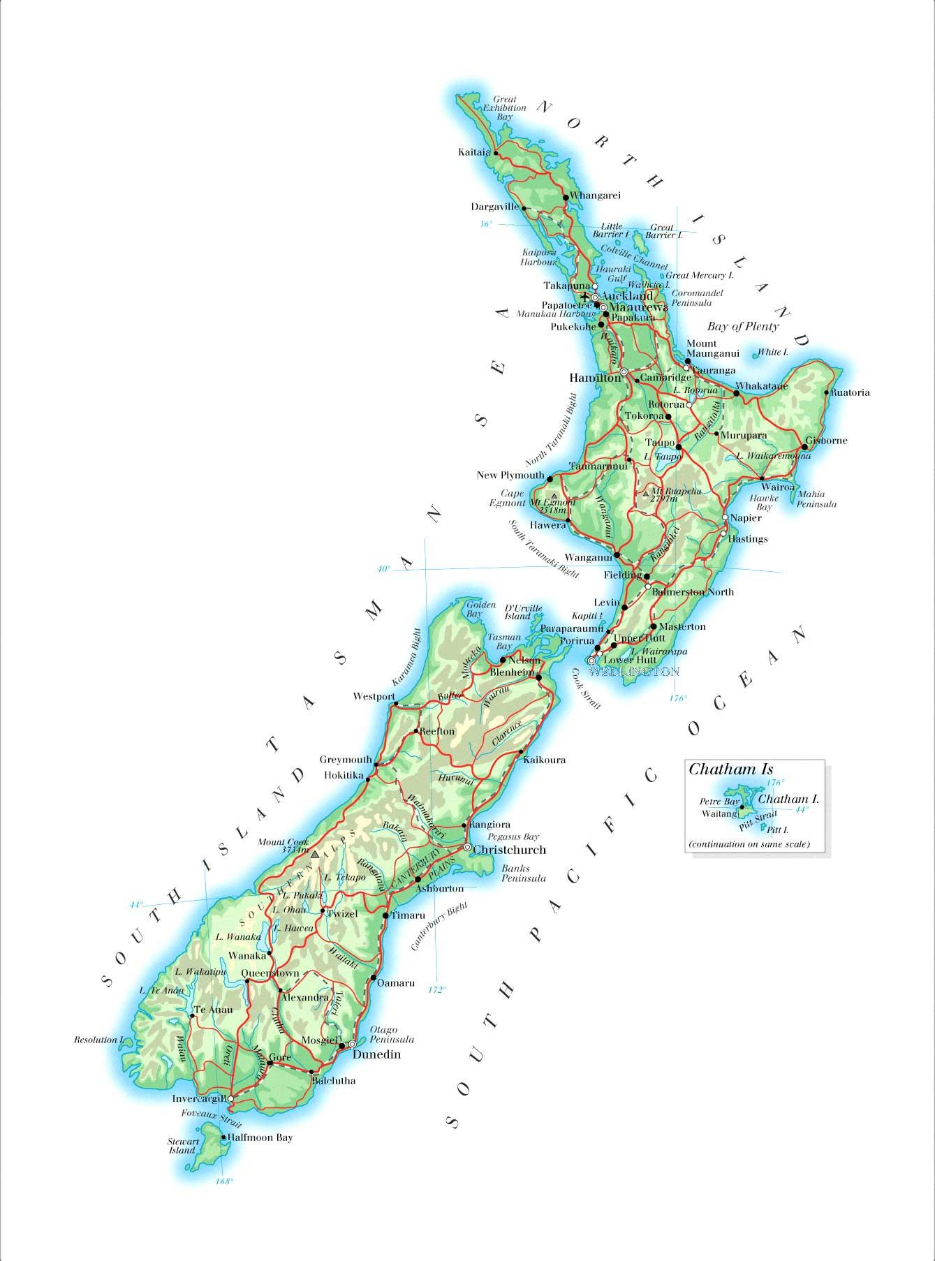 clipart map nz - photo #45