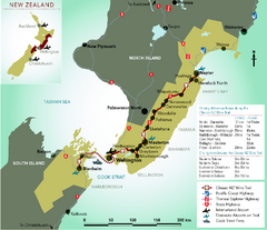 New Zealand Wine Trail Map