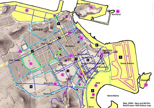 New and Old Rio de Janiero Map - Rio de Janeiro Brazil • mappery