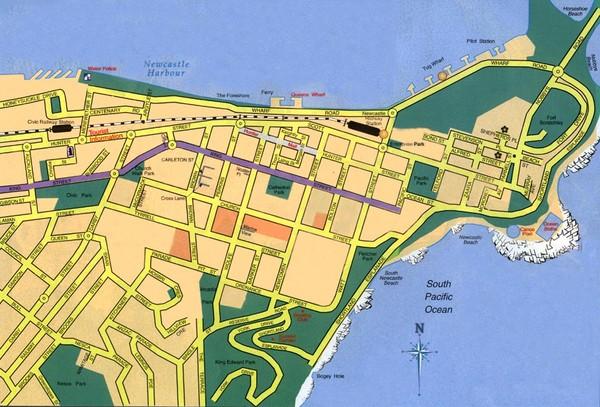 Newcastle Australia  City new picture : Newcastle City Map Newcastle Australia • mappery