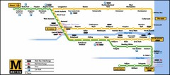 Newcastle Metro System Map