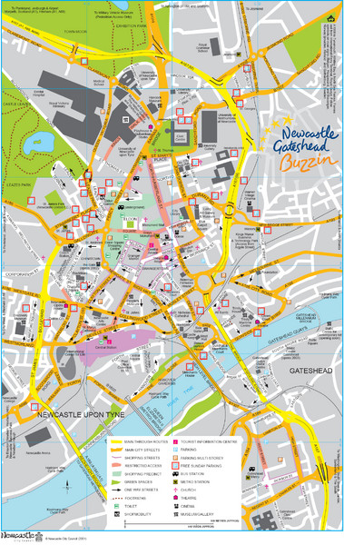 Newcastle Tourist Map